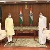Lok Sabha Speaker Om Birla and Rajya Sabha Chairman Venkaiah Naidu held meeting