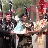 India and Pakistan soldiers shares sweets