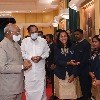 President Ramnath Kovind held High Tea with olympic contingent