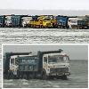 132 sand lorries stranded in Krishna river