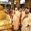 Lok Sabha speaker Om Brila offers prayers at Tirumla shrine