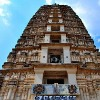Compound wall of Mangalagiri temple Collapsed