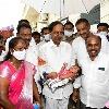 CM KCR christened a toddler in Karimnagar district