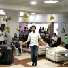 Union Sports minister Anurag Thakur performs his skipping skills
