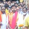 Nara Lokesh visits Bhadrachalam temple