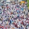AP Govt Employees protest against Jagan govt on CPS