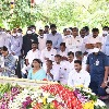 YS Jagan and sharmila at Idupulapaya