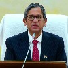 Solicitor General Floods CJI NV Ramana With Lauds
