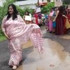 Bhopal women catwalks at potholed roads
