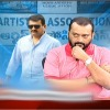 Bandla Ganesh refuse to talk with Jeevitha in a tv channel live