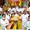 Telangana and Haryana governors offers first prayers to Khairatabad Maha Ganapathi