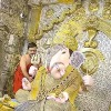 Golden crown for Ganapathi idol in Pune