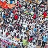 Maha Padayatra against the decision to privatize the Visakhapatnam steel plant
