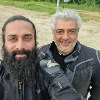 Ajith and Navdeep at a bike racing event held in Hyderabad