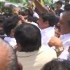 YCP Netas Agitation At Chandrababu Home