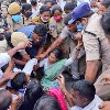 YS Sharmila angry on police after she was arrested