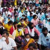 Tirumala devotees protest at srinivasam guest house