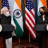 Kamala Harris so happy with Modi gift