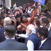 Indians chants Jai Bharat Mata Ki slogans