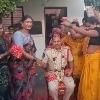 Transgenders felicitated Uravakonda CI Sekhar