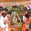 bandi sanjay visits bhagya lakshmi temple