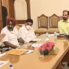Punjab CM Channis son attends law and order meeting pic surfaces