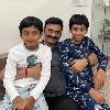 Raghurama Krishna Raju with his grand children