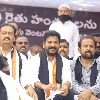 Revanth Reddy attends Congress party protest at Indira Park