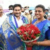 YCP MLA Roja confers CM Jagan with specially made shawl