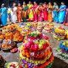 There is a confusion in saddula bathukamma festival