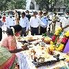 Governor Tamilisai performs Ayudha Puja at Raj Bhavan