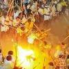 Huge Police Protection for devaragattu karrala samram