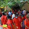 Devotees poured to visit Bejawada kanakadurga in Navaratri