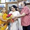 Krishnam Raju falicitates maid