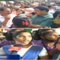 Students and parents rounds up MLA Dwarampudi Chandrasekhar