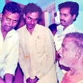In a rare photo KCR with legendary NTR