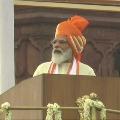 PM Modi Inaugarates Tri Colour at Redfort