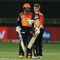 Saha and Warner smashes Delhi bowlers as Sunrisers Hyderabad posted huge total