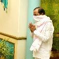 CM KCR met Telangana governor Tamilisai after paid tributes to Gandhiji