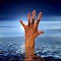 Man fell into the flood water in Saroon nagar