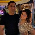 Sania Mirza and Shoaib Malik attends to Sakshi birthday celebrations