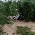 woman who was washed away in the canal along with the car in  Gadwal