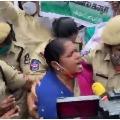 Congress MLA Seethakka arrested at Pragathi Bhavan