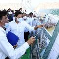 CM Jagan visits Polavaram project site