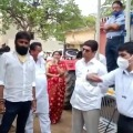 Kodali Nani and ministers observes ration supply through vehicle