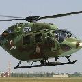 Army Chopper Crash Land near Khathuva