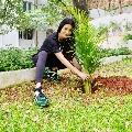 Actress Shruti Haasan participates in Green India Challenge