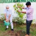 TRS MP Santosh Kumar has taken his Green India Challenge to Delhi