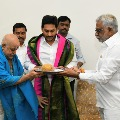 TTD Chairman and priests met CM Jagan and blessed