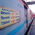 There is no passengers in Rayalaseema Express rail